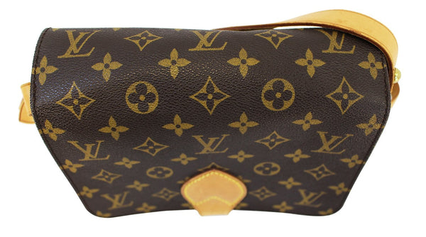 Authentic LOUIS VUITTON Monogram Canvas Cartouchiere MM Bag E3425