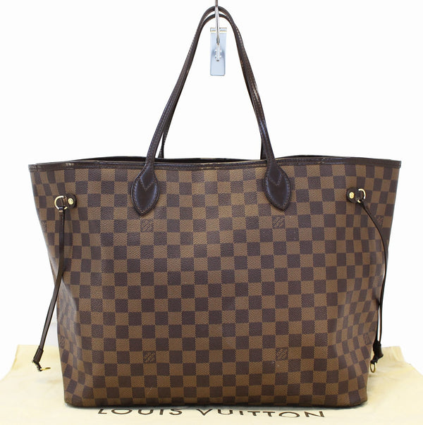 Authentic LOUIS VUITTON Damier Ebene Neverfull GM Tote Bag E3417