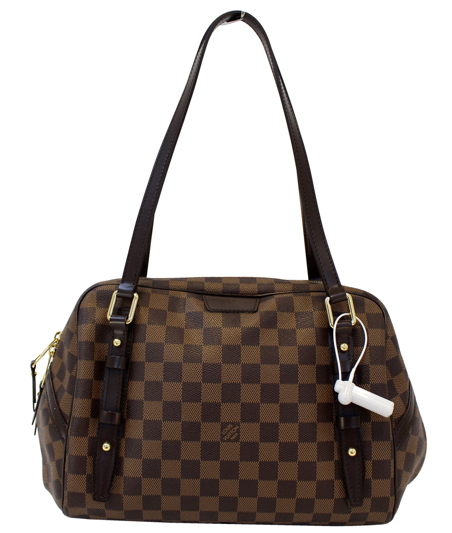 1e1fef04e2db LOUIS VUITTON Damier Ebene Rivington GM Shoulder Bag