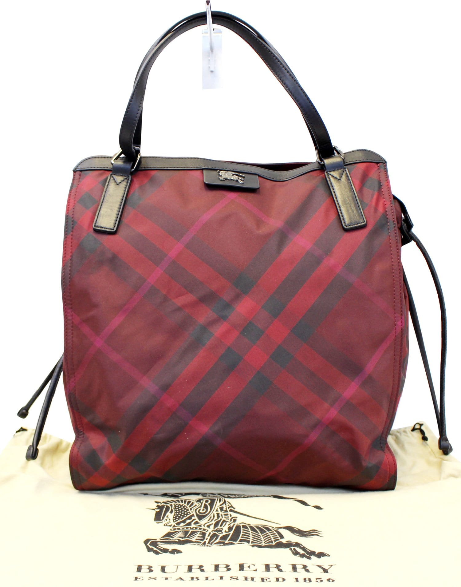 5cc6314d7f Burberry Buckleigh Packable Burgundy Nylon/Leather Tote Shoulder Bag ...