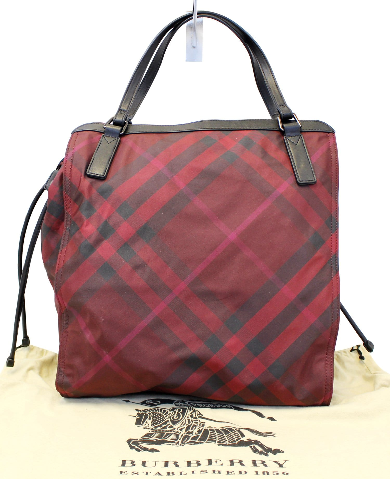 2eeeefb67a50 Burberry Buckleigh Packable Burgundy Nylon Leather Tote Shoulder Bag TT2127