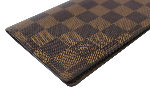 Authentic LOUIS VUITTON Damier Ebene Portefeiulle Brazza Bifold Long Wallet E3471