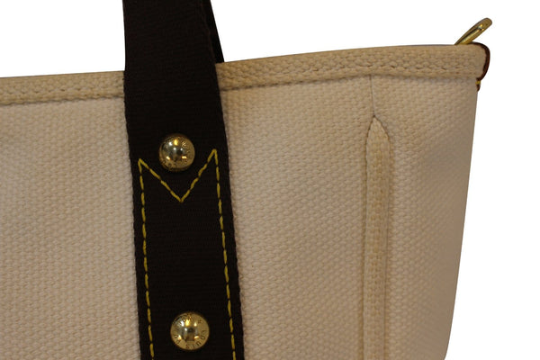 LOUIS VUITTON Limited Edition Cream Canvas Antigua Cabas MM Bag - Final Call