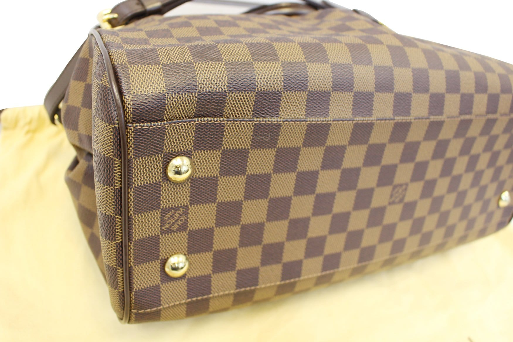 94294e2b80a6 LOUIS VUITTON Trevi GM Damier Ebene 2way Handbag