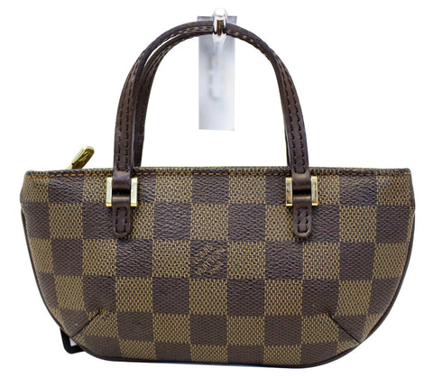 LOUIS VUITTON Damier Ebene Brown Pouch - 30% Off