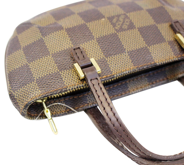 LOUIS VUITTON Damier Ebene Brown Pouch