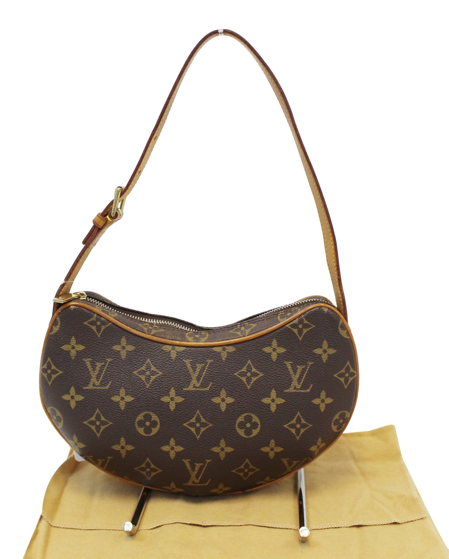 92a2e3c685fa LOUIS VUITTON Monogram Canvas Croissant PM Bag - Final Call