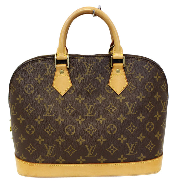 LOUIS VUITTON Monogram Canvas Alma Brown Satchel Bag