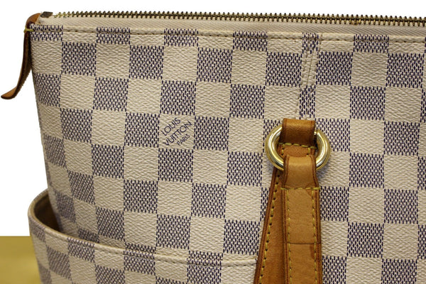 Louis Vuitton Totally GM Damier Azur Tote Shoulder Bag white