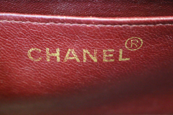 Chanel Shoulder Bag - CHANEL Purse Vertical Caviar Leather - logo