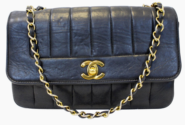 Chanel Shoulder Bag - CHANEL Purse Vertical Caviar Leather