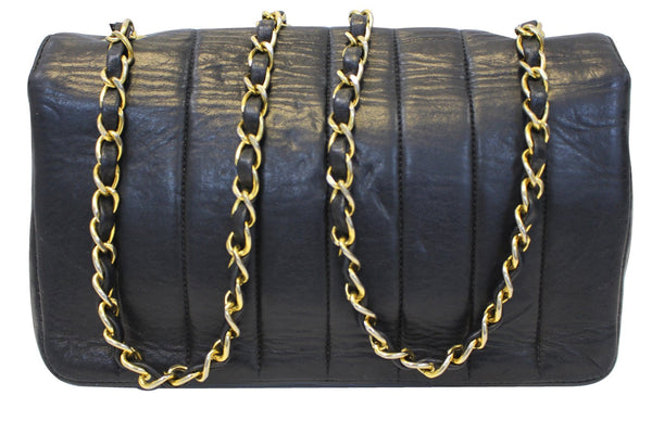 Chanel Shoulder Bag - CHANEL Purse Vertical Caviar Leather - chains