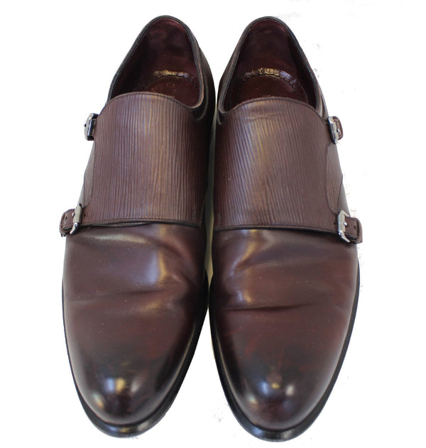 LOUIS VUITTON Greenwich Buckles Epi Burgundy Size 8 Men's Shoes - 30% Off