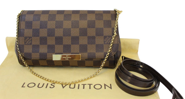LOUIS VUITTON Damier Ebene Favorite PM Bag