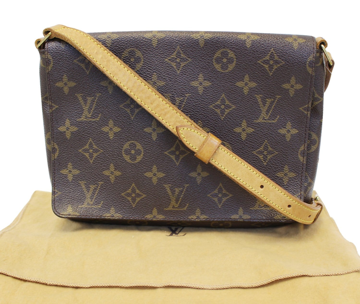 290d75045be9 LOUIS VUITTON Monogram Canvas Musette Tango Shoulder Crossbody Bag