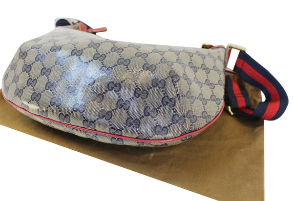 Gucci GG Canvas Messenger Bag Red Navy Blue - authentic