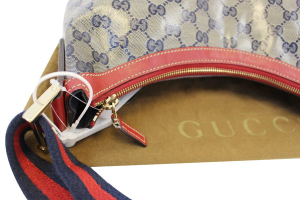 Gucci GG Canvas Messenger Bag Red Navy Blue - gucci bag