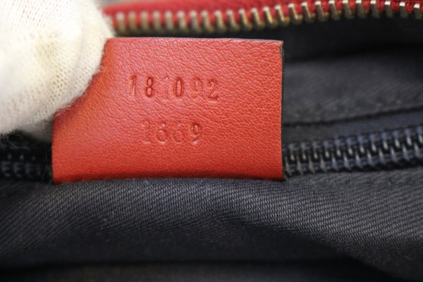 Gucci GG Canvas Messenger Bag Red Navy Blue - gucci tag