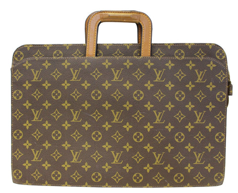 LOUIS VUITTON Monogram Canvas Brown Document Briefcase Bag Vintage - 30% Off