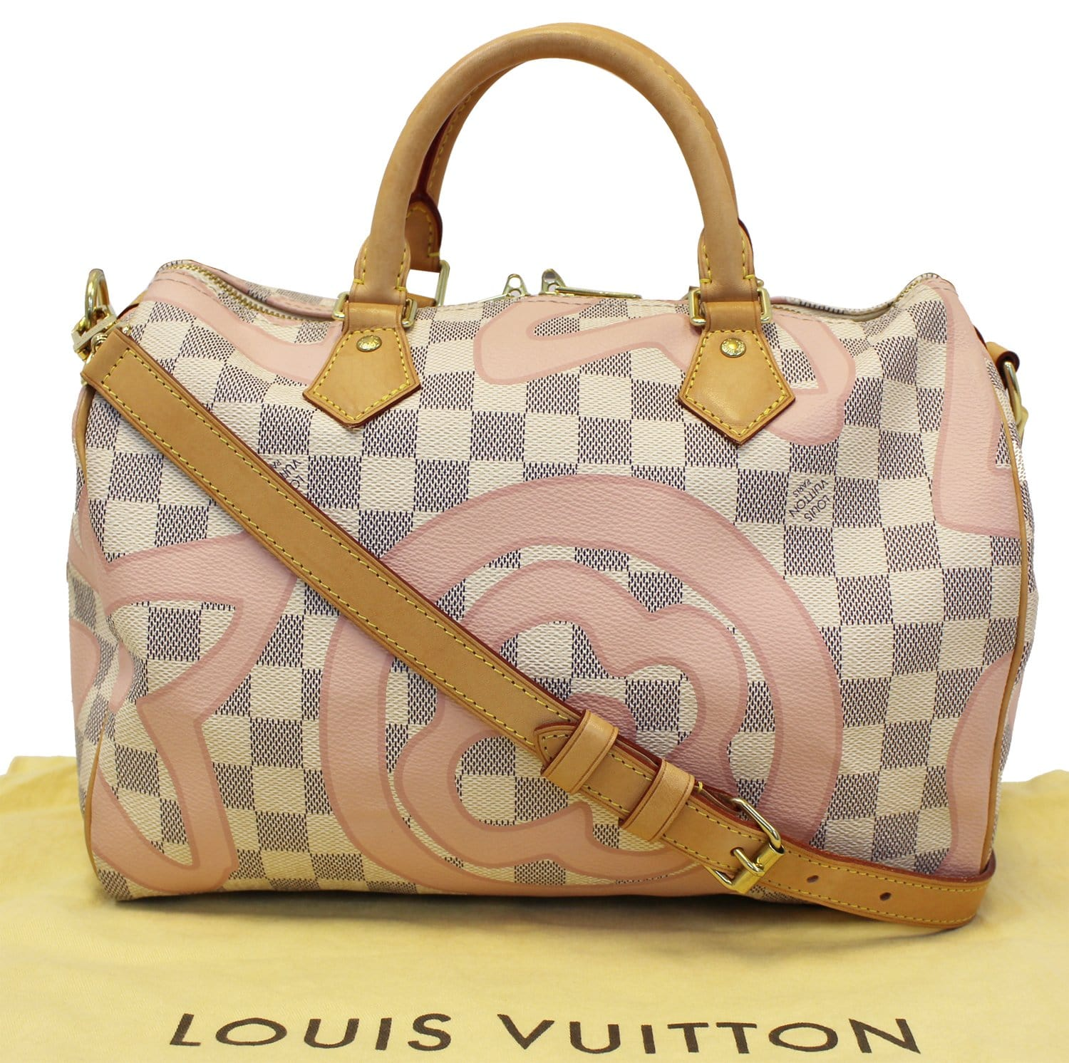 a48805dc4a9a LOUIS VUITTON Damier Azur Tahitienne Speedy 30 Bandouliere Limited Edition