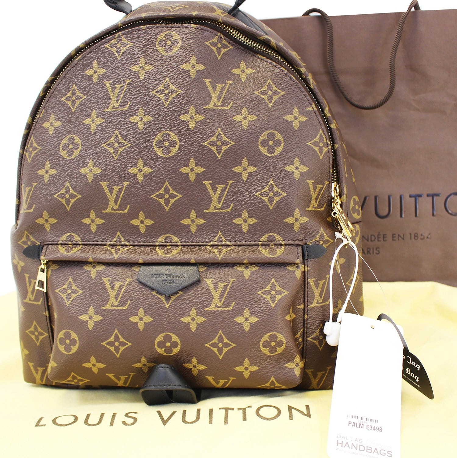 be6e1b2c2872 LOUIS VUITTON Monogram Canvas Palm Springs MM Backpack