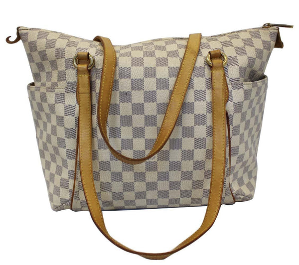 Louis Vuitton Totally MM Damier Azur Shoulder Handbag - lv strap