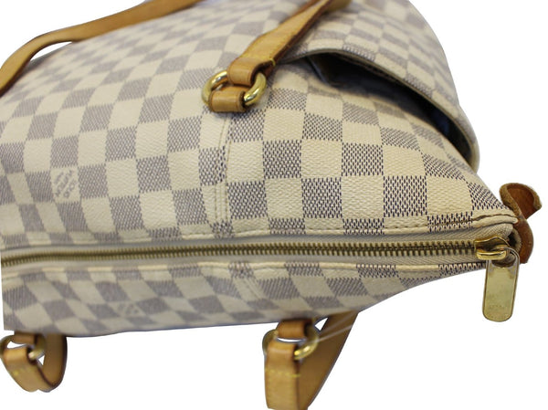 Louis Vuitton Totally MM Damier Azur Shoulder Handbag - lv zip