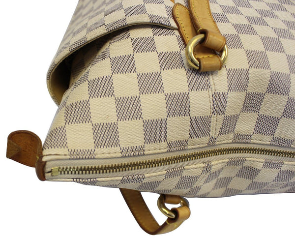 Louis Vuitton Totally MM Damier Azur Handbag - leather
