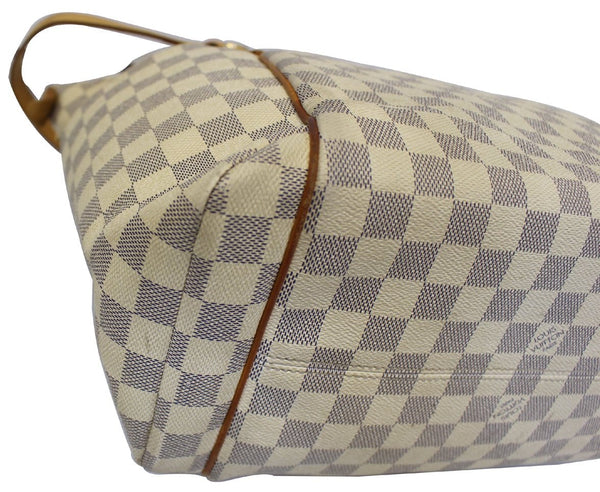 Louis Vuitton Totally MM Damier Azur Shoulder Handbag white