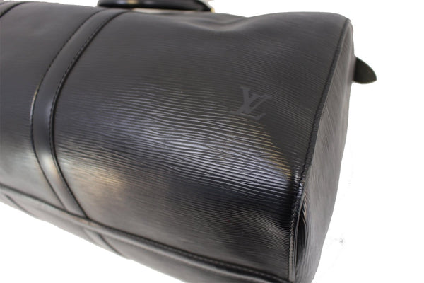 LOUIS VUITTON Epi Leather Black Keepall 50 Boston Bag