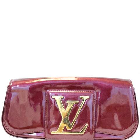 LOUIS VUITTON Rouge Fauviste Vernis Pochette Sobe Clutch Bag
