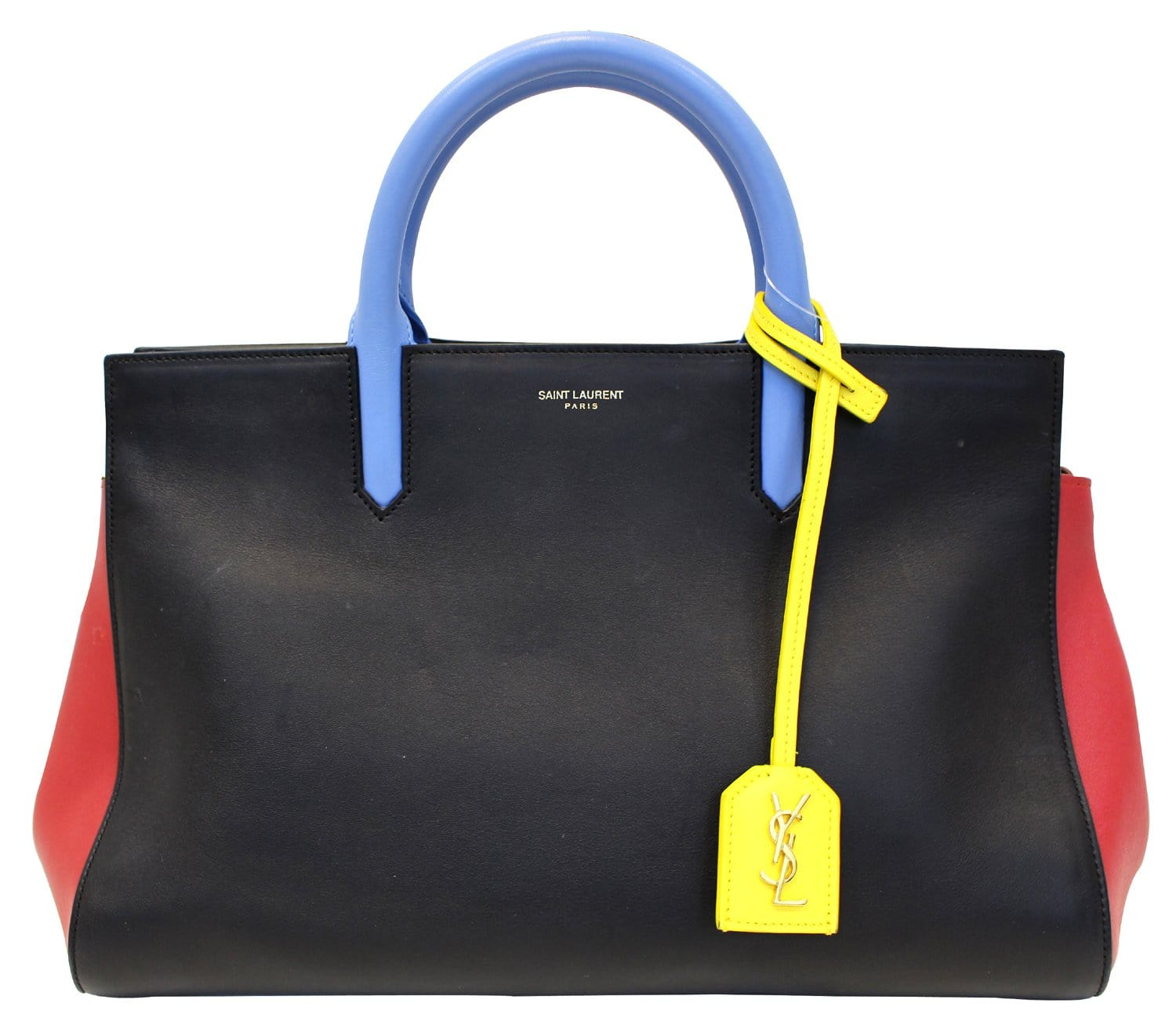Gauche Laurent Yves Saint Cabas Calfskin Rive Satchel Bag Small qUSzVpM