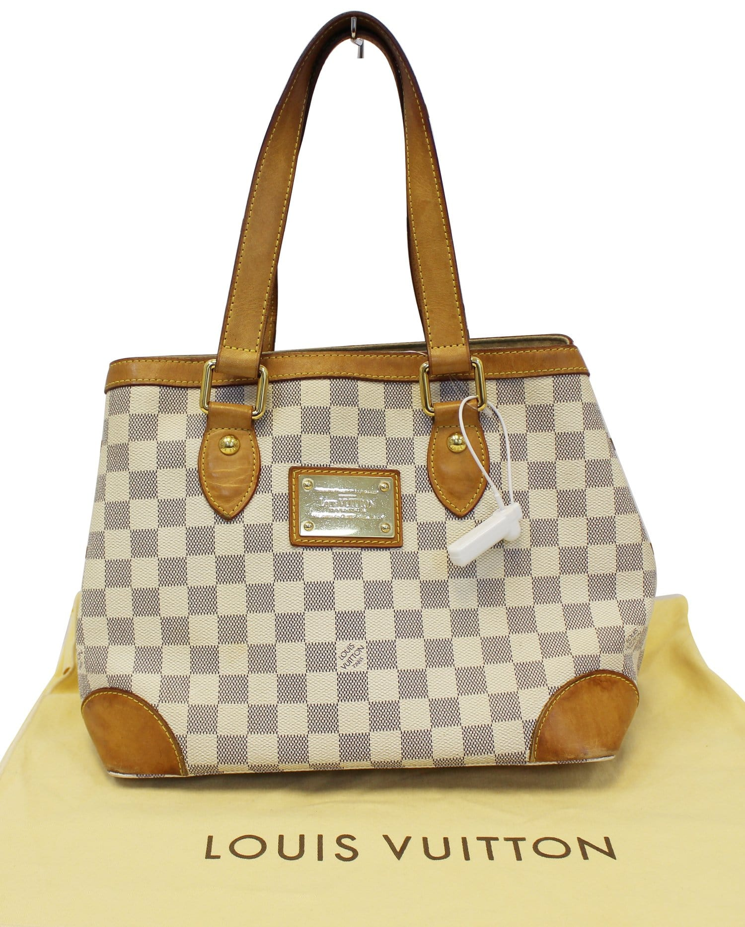 8a01f96fff4e LOUIS VUITTON Damier Azur Hampstead PM Shoulder Bag