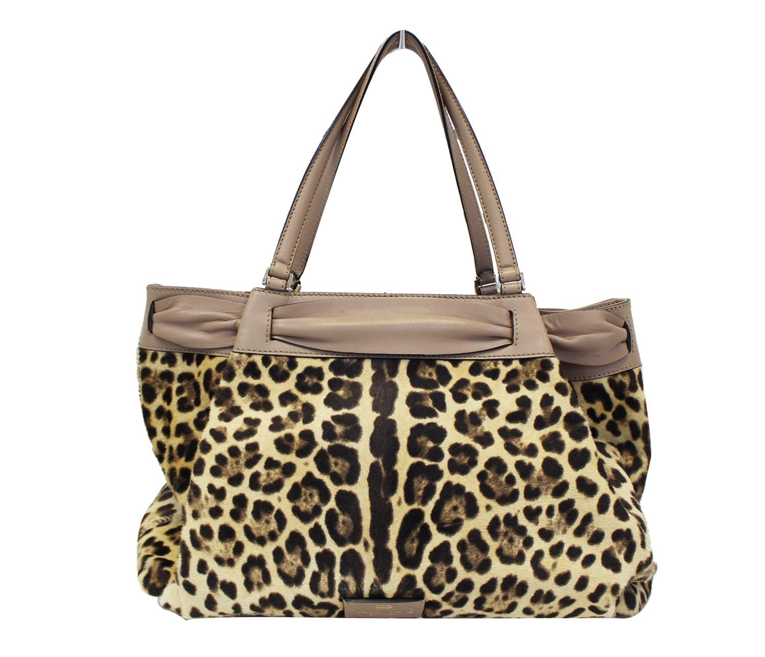 ffb570c3f9 Valentino Leopard Print with Leather Bow Satchel Bag