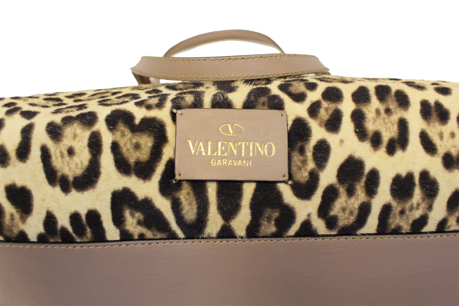 46fc7ea86c3 Valentino Leopard Print with Leather Bow Satchel Bag