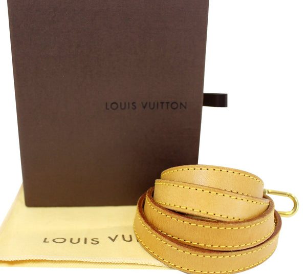 LOUIS VUITTON Leather Bandouliere Shoulder Strap Beige