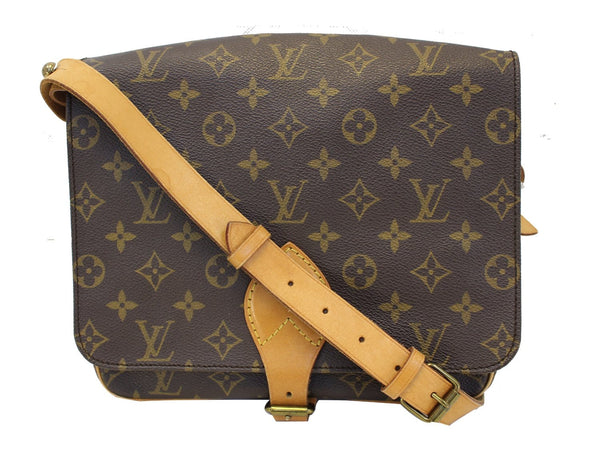 Authentic LOUIS VUITTON Monogram Canvas Cartouchiere GM Messenger Bag TT1657