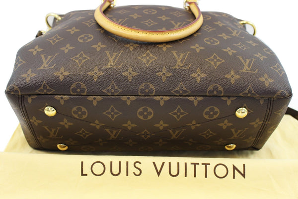 LOUIS VUITTON Safran Monogram Canvas Pallas 2Way Shoulder Bag