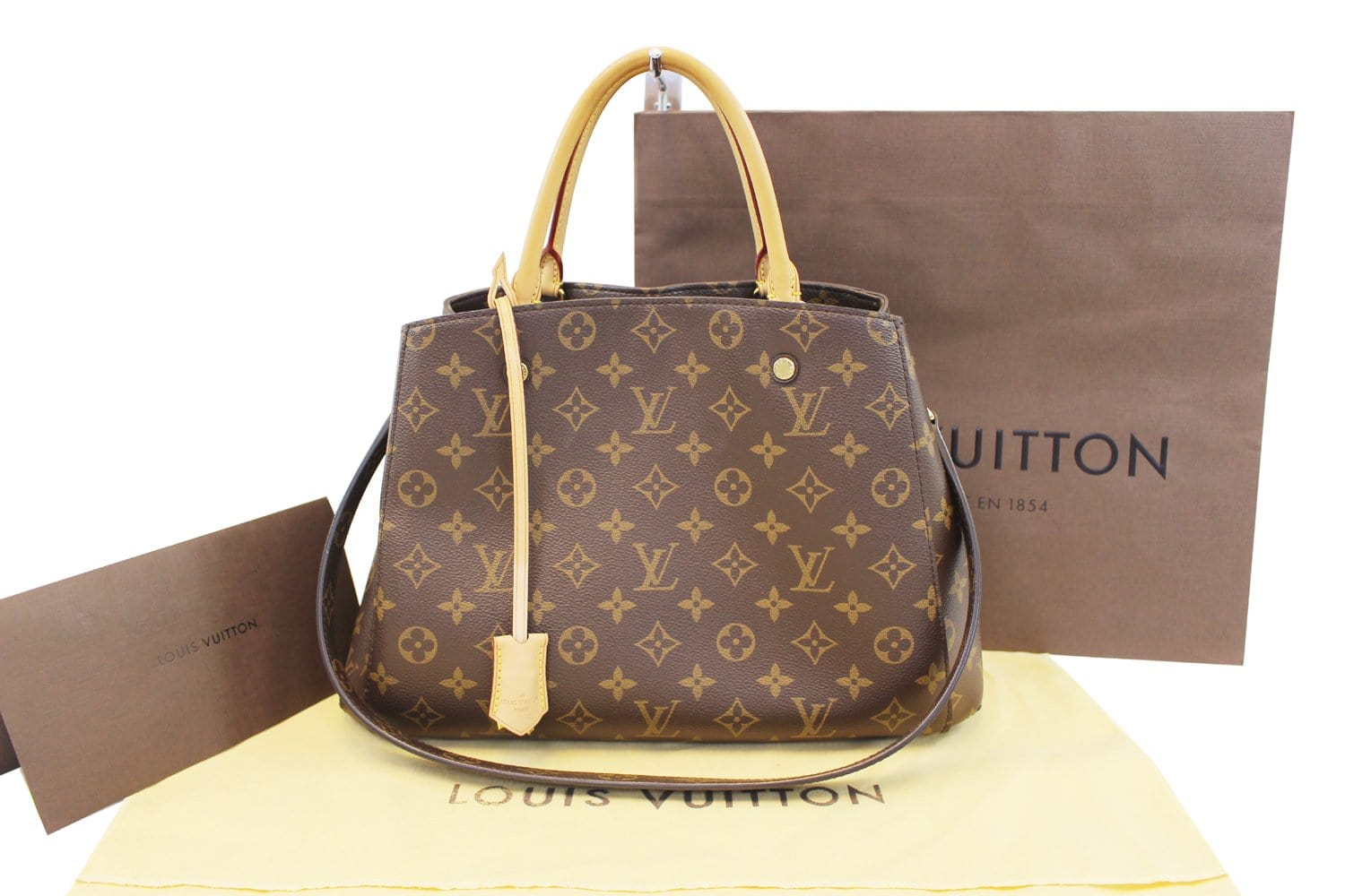 13adaeabf23d7 Authentic LOUIS VUITTON Monogram Canvas Montaigne MM Bag TT1669