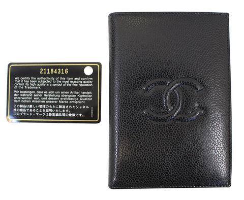 CHANEL Patent Leather Black Passport Wallet - 30% Off