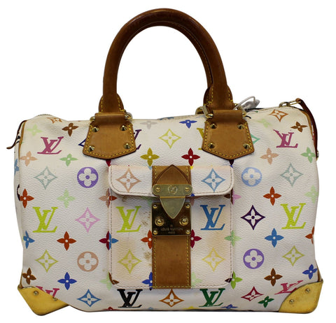 LOUIS VUITTON Monogram Multicolor Speedy 30 Satchel Bag - 30% Off