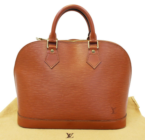 LOUIS VUITTON Epi Leather Alma PM Cipango Gold Brown Satchel Bag - 30% Off
