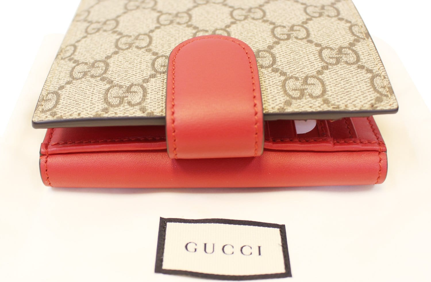 033722471c8 GUCCI GG Supreme French Flap Wallet Pearl Studded 431480