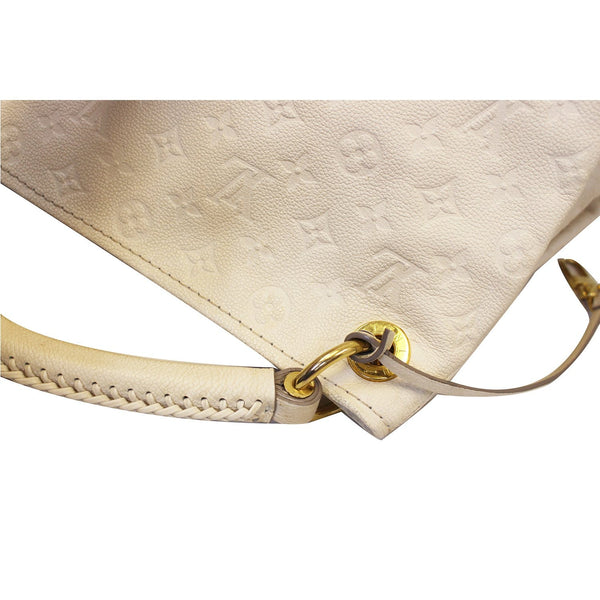 LOUIS VUITTON Artsy MM Empreinte Leather Shoulder Bag Beige-US