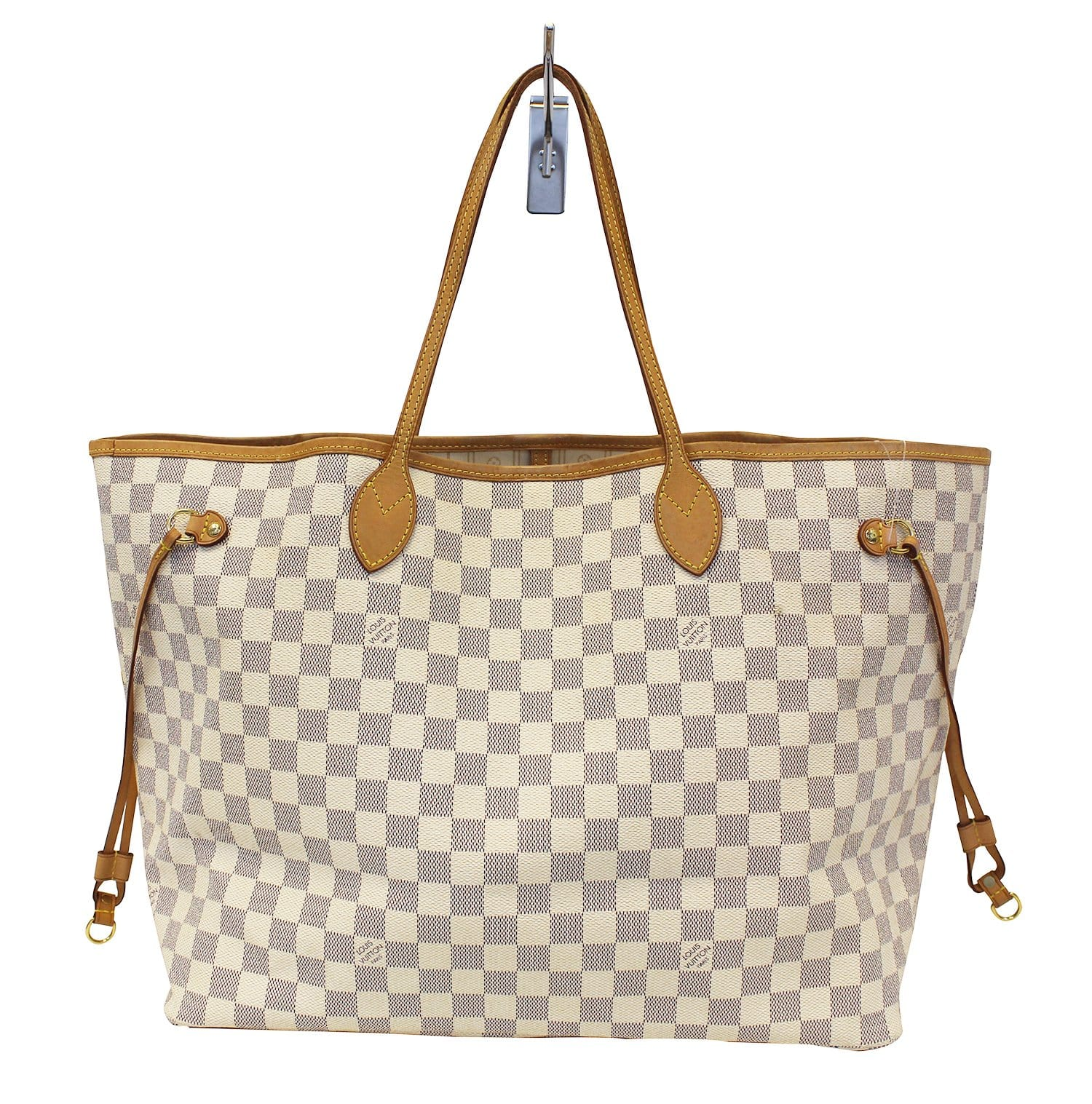 b4ce20613657 LOUIS VUITTON Damier Azur Neverfull GM White Tote Bag
