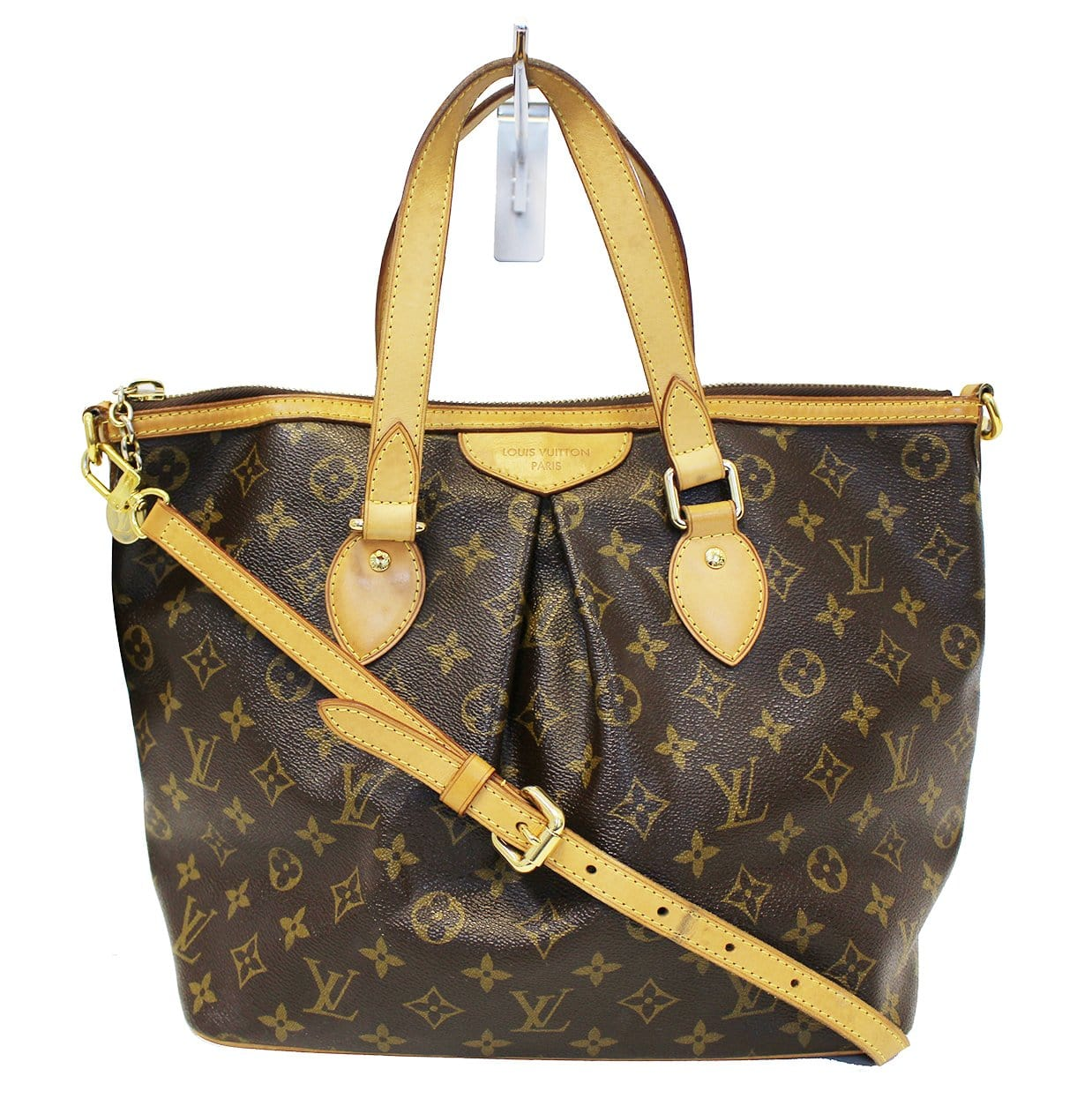 4beb84697bdd LOUIS VUITTON Monogram Canvas Palermo PM Brown Shoulder Bag