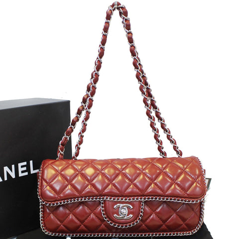 CHANEL Classic Single Flap Chain Around Quilted Lambskin Shoulder Bag