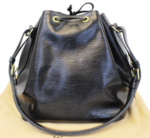 LOUIS VUITTON Epi Leather Petit Noe Black Shoulder Bag - 30% Off