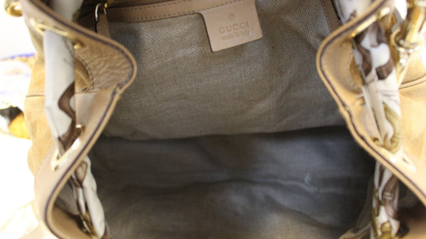 GUCCI Limited Edition White/Brown Embroidered Canvas Positano Bag - Final Call