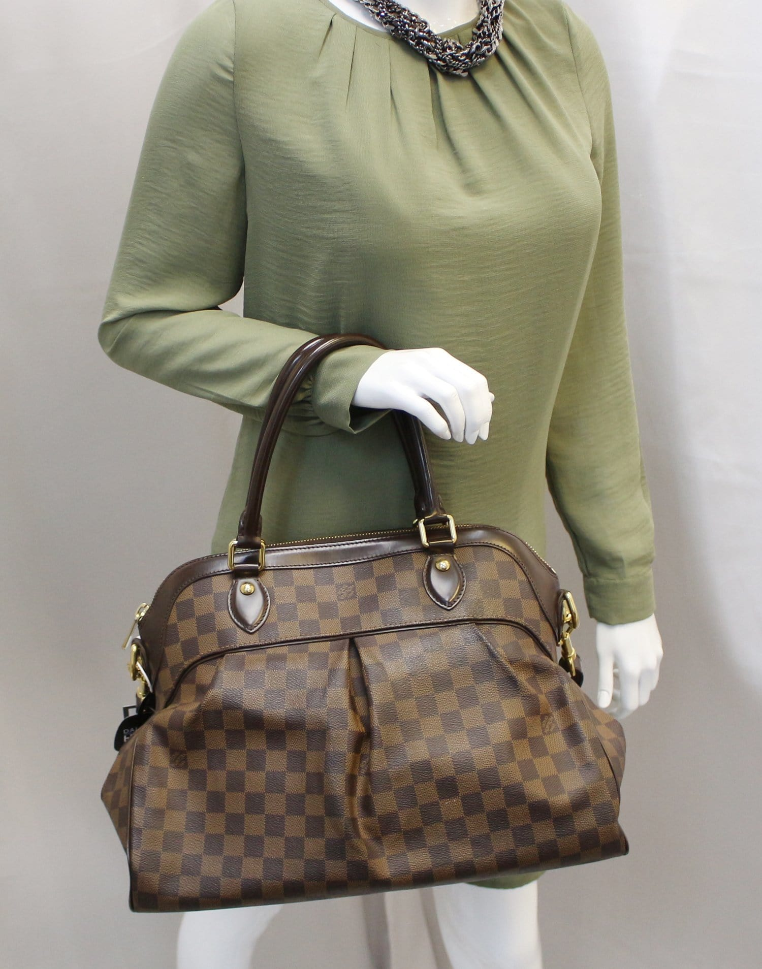 cce877e8e50c LOUIS VUITTON Damier Ebene Trevi GM Brown Shoulder Bag TT2216 ...